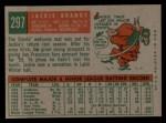 1959 Topps #297  Jackie Brandt  Back Thumbnail