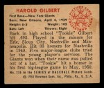 1950 Bowman #235  Tookie Gilbert  Back Thumbnail