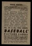 1952 Bowman #32  Eddie Miksis  Back Thumbnail