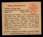 1950 Bowman #98  Fred Morrison  Back Thumbnail