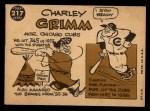 1960 Topps #217  Charley Grimm    Back Thumbnail