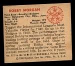 1950 Bowman #222 CPR Bob Morgan  Back Thumbnail