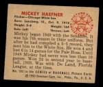 1950 Bowman #183  Mickey Haefner  Back Thumbnail