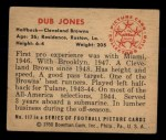 1950 Bowman #117  Dub Jones  Back Thumbnail