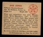 1950 Bowman #117  Dub Jones  Back Thumbnail