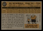 1960 Topps #357  Al Schroll  Back Thumbnail