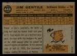 1960 Topps #448  Jim Gentile  Back Thumbnail