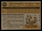 1960 Topps #487  Tom Sturdivant  Back Thumbnail