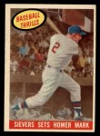 1959 Topps #465   -  Roy Sievers Sets Homer Mark Front Thumbnail