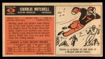 1965 Topps #60  Charlie Mitchell  Back Thumbnail