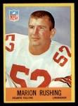 1967 Philadelphia #9  Marion Rushing   Front Thumbnail