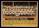 1956 Topps #72 LFT  Phillies Team Front Thumbnail