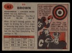 1957 Topps #43  Ed Brown  Back Thumbnail