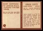 1967 Philadelphia #2  Junior Coffey   Back Thumbnail