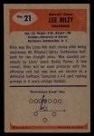 1955 Bowman #21  Lee Riley  Back Thumbnail