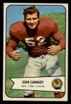 1954 Bowman #19  John Cannady  Front Thumbnail