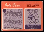 1970 Topps #41  Pete Case  Back Thumbnail
