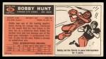 1965 Topps #104  Bobby Hunt  Back Thumbnail