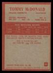 1965 Philadelphia #49  Tommy McDonald   Back Thumbnail
