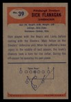 1955 Bowman #39  Dick Flanagan  Back Thumbnail