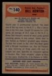 1955 Bowman #140  Bill Howton  Back Thumbnail