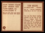1967 Philadelphia #93  Tom Moore  Back Thumbnail