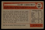 1954 Bowman #69  Clint Courtney  Back Thumbnail