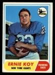 1968 Topps #5  Ernie Koy  Front Thumbnail