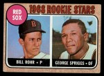 1968 Topps #314   -  Bill Rohr / George Spriggs Red Sox Rookies Front Thumbnail