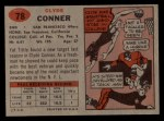1957 Topps #78  Clyde Conner  Back Thumbnail