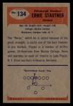 1955 Bowman #134  Ernie Stautner  Back Thumbnail
