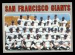 1970 Topps #696   Giants Team Front Thumbnail