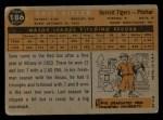 1960 Topps #186  Dave Sisler  Back Thumbnail
