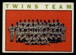 1964 Topps #318   Twins Team Front Thumbnail