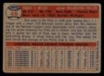 1957 Topps #46  Bob Miller  Back Thumbnail