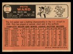 1966 Topps #25  Pete Ward  Back Thumbnail
