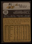 1973 Topps #355  Mike Marshall  Back Thumbnail