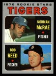 1970 Topps #207   -  Norman McRae / Bob Reed Tigers Rookies Front Thumbnail