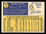 1970 Topps #135  Dick Dietz  Back Thumbnail