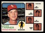 1973 Topps #356   -  Chuck Tanner / Joe Lonnett / Jim Mahoney / Alex Monchak / Johnny Sain White Sox Leaders Front Thumbnail