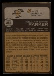 1973 Topps #354  Billy Parker  Back Thumbnail