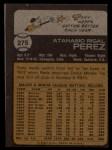 1973 Topps #275  Tony Perez  Back Thumbnail