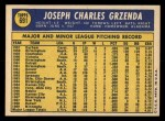 1970 Topps #691  Joe Grzenda  Back Thumbnail