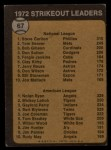 1973 Topps #67   -  Steve Carlton / Nolan Ryan Strikeout Leaders Back Thumbnail