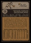 1973 Topps #128  Ted Sizemore  Back Thumbnail