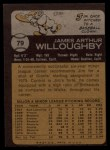 1973 Topps #79  Jim Willoughby  Back Thumbnail