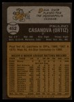 1973 Topps #452  Paul Casanova  Back Thumbnail