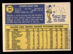 1970 Topps #281  Casey Cox  Back Thumbnail
