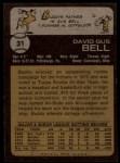1973 Topps #31  Buddy Bell  Back Thumbnail