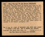 1941 Gum Inc. War Gum #100   King George VI and Queen Elizabeth Back Thumbnail